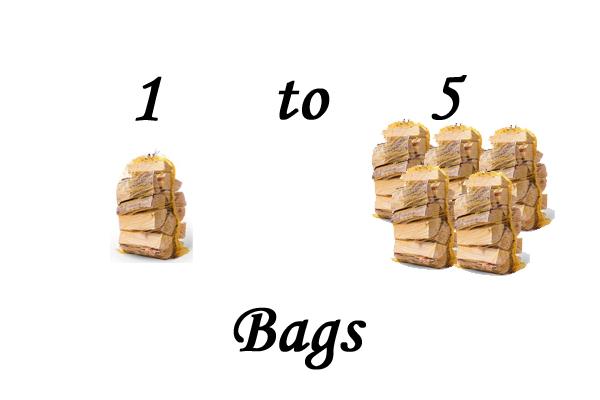 Net bags of Kiln Dried Ash Logs