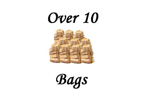 Net bags of Kiln Dried Ash Logs